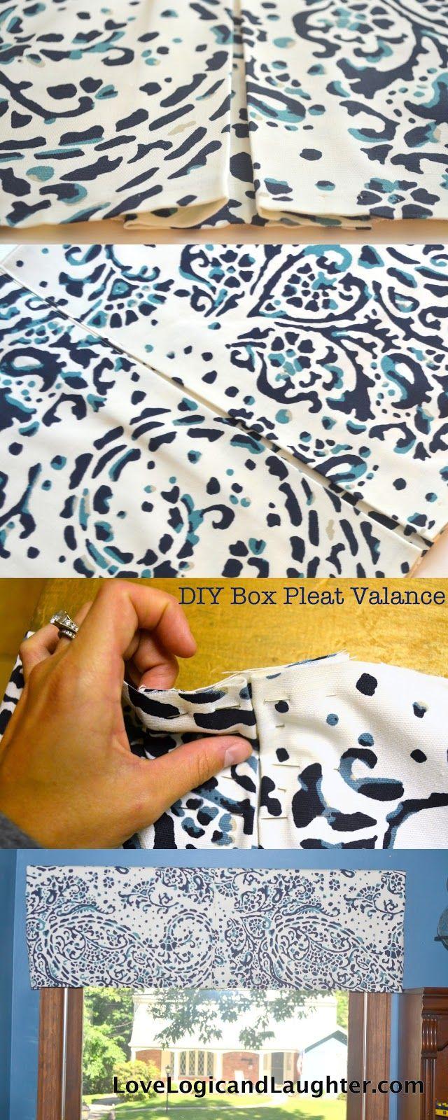 Logic and Laughter: Box Pleat Valance - DIY