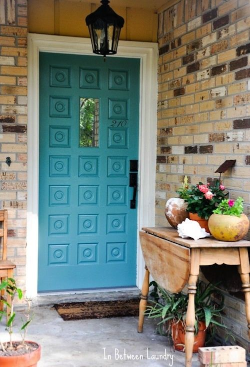Front Door | Paint Color | Home Design | Turquoise