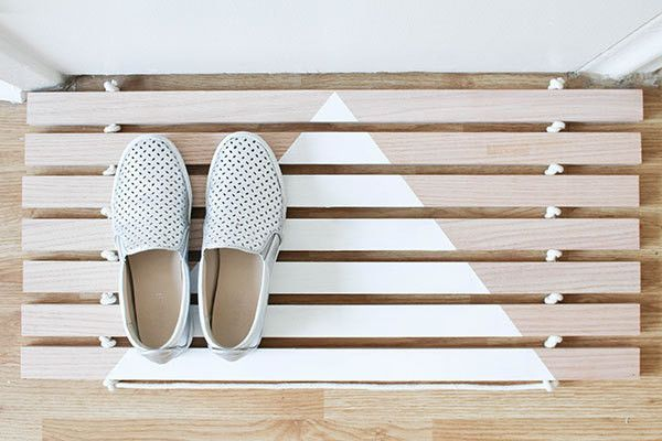 Made with minimal materials by Lonny's go-to craft expert Steph Hung, this stylish yet functional wood door mat couldn't be easier to put together.