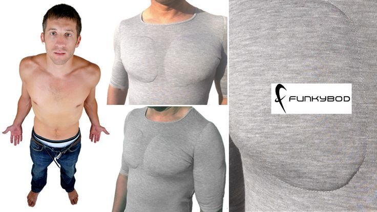 Funkybod Muscle Shirt - Thanks to a set of subtle plates that accentuate your shoulder, bicep, lat, pectoral, and shoulder muscles – you too can now look like you don't actually spend all of your time in front of a computer.