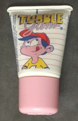 Le meilleur chewing-gum de la terre : le Tubble Gum ! et comment il fallait couper le haut du tube pour racler la moindre miette à l'intérieur une fois qu'il était vide !