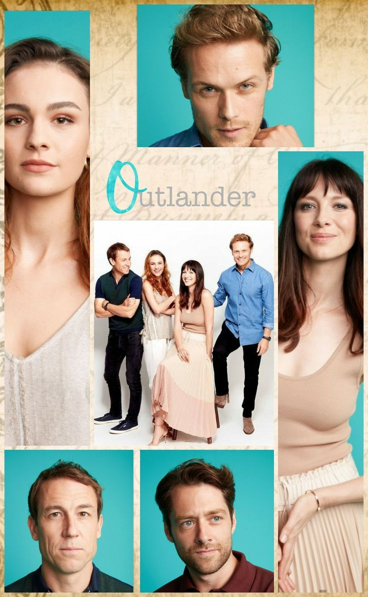 The Cast - Tobias Menzies as Frank Randall, Sophie Skelton as Brianna Randall Fraser, Caitriona Balfe as Claire Randall Fraser, Sam Heughan as James Fraser, and Richard Rankin as Roger Wakefield - Love Outlander! - July 22nd, 2017