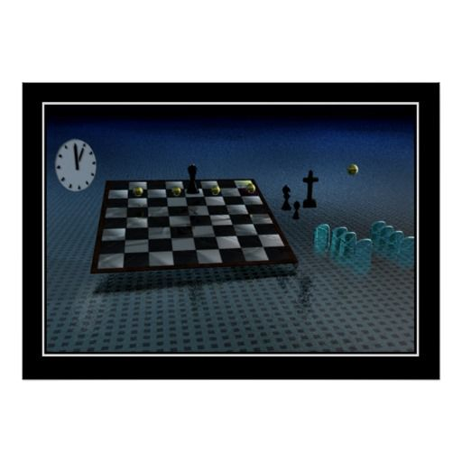 The Chess Game Print
