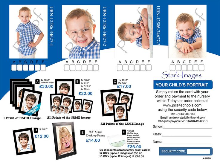 STARK-IMAGES - Photography: Nursery Photography Proof Card System