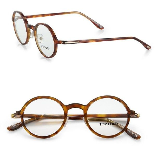 Tom Ford Eyewear Round Acetate Reading Glasses found on Polyvore