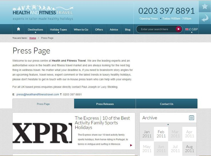 As the leading experts in the luxury #health and #fitness travel market, view our #Press Page for our latest #travel features and press releases.
