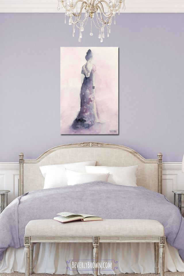 Decor Ideas Wall Art For Feminine Bedrooms Light Purple