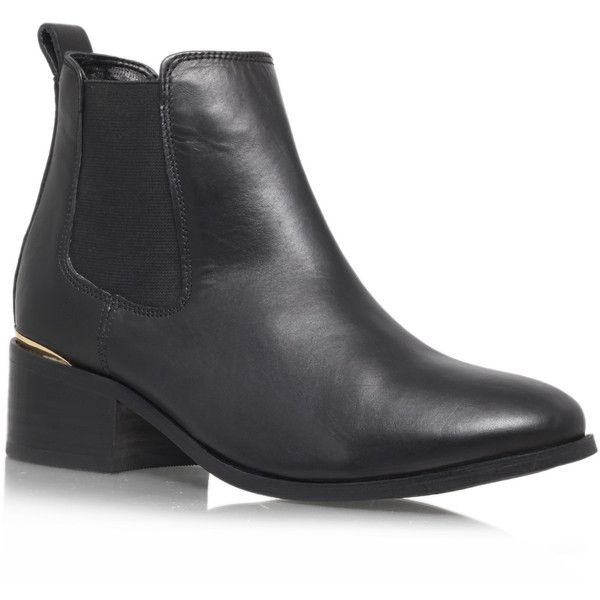 Toby Carvela Kurt Geiger Black (€98) found on Polyvore featuring shoes, boots, ankle booties, black, leather booties, black boots, leather boots, lace up booties and black ankle booties