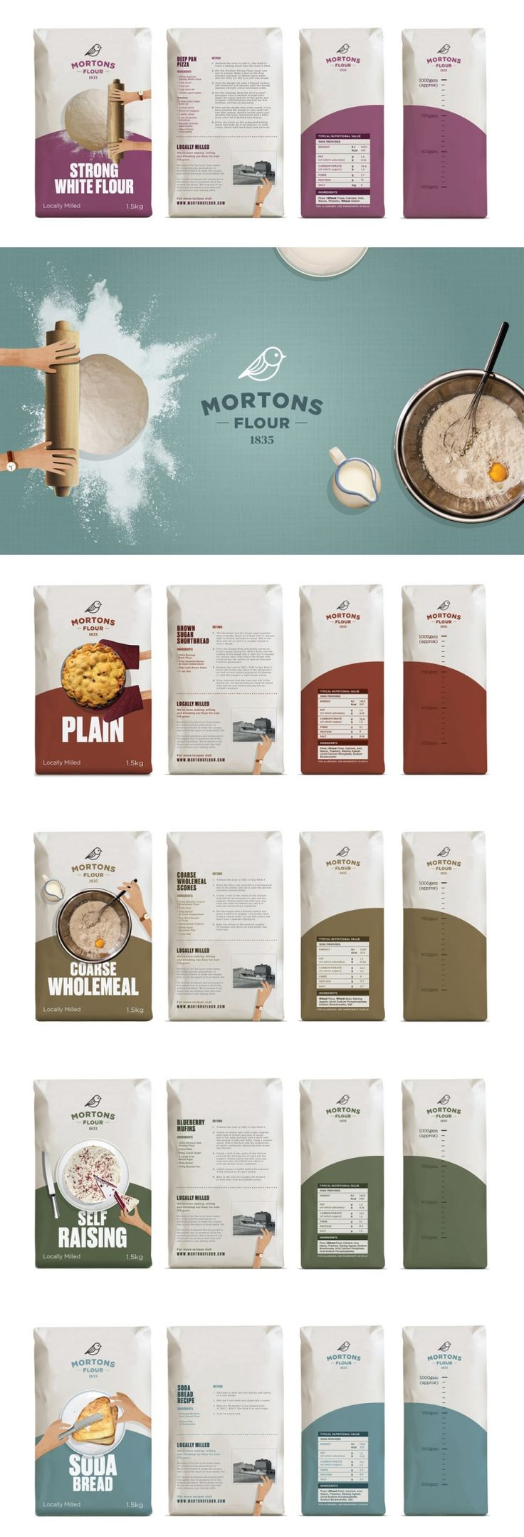 Rediscover The Joy of Baking With Mortons Flour — The Dieline | Packaging & Branding Design & Innovation News