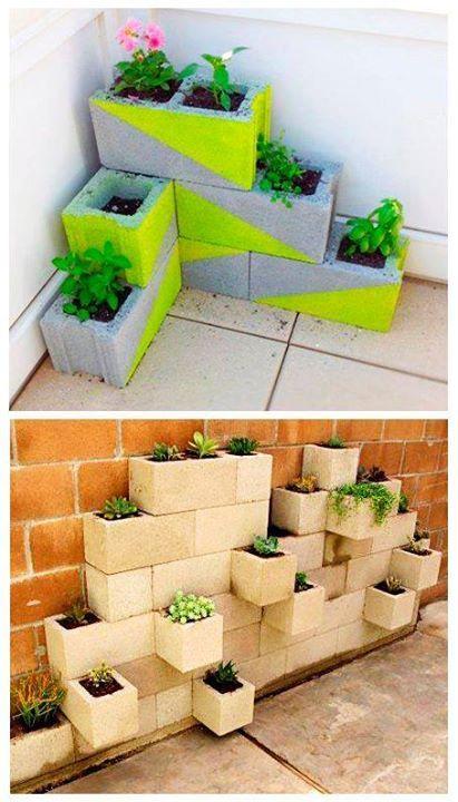 Breezeblock planters