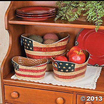 $25 Americana Decorative Pails