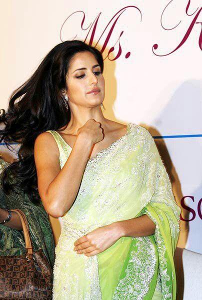 Katrina Kaif White Saree
