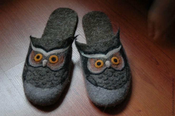 Купить Валяные тапочки с любимым персонажем - войлочные тапочки, обувь ручной работы, обувь для дома