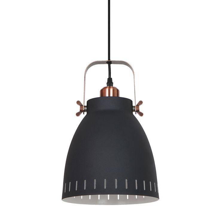 Lampa sufitowa FRANKLIN czarna Industrialna Italux MD-HN8026M-B+RC