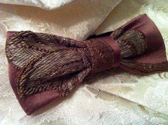 PAPILLON  Bronzeo con motivi in Rilievo  Bow Tie Men di Idillyum