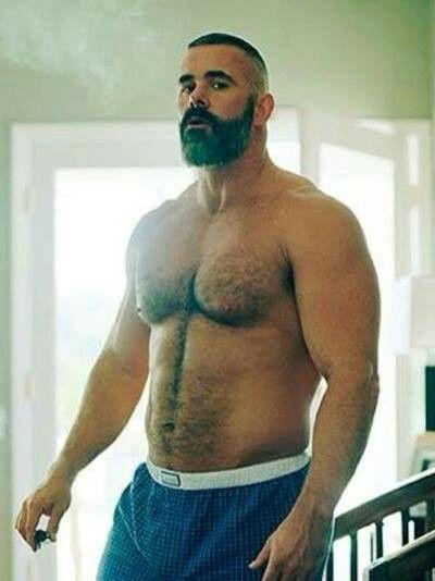 Muscle Bear. Men. Beards. Boxers.