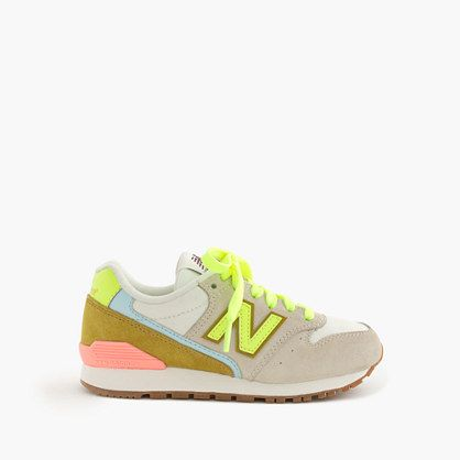 We've been fans of the New Balance 996 for a while (26 years and counting), so we collaborated on an exclusive-to-crewcuts sneaker you'll only find here. Talk about a perfect pair. <ul><li>Suede, nylon upper.</li><li>Cotton lining.</li><li>Rubber sole.</li><li>Import.</li></ul>