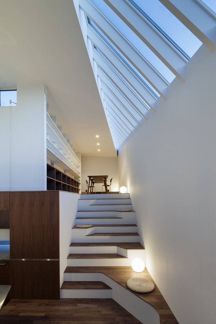 What do you think about doing the stairs in white, with the natural blonde wood on the top horizontal boards? I like it...Much more so than carpet on the stairs. It'll make your house seem much cleaner/sharper without. Staircase
