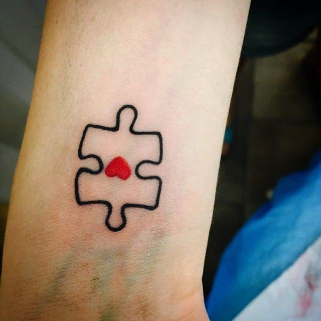 25 best ideas about puzzle piece tattoos on pinterest jigsaw tattoo husband wife tattoos and. Black Bedroom Furniture Sets. Home Design Ideas