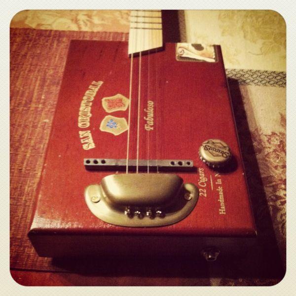 how to build a cigar box guitar neck