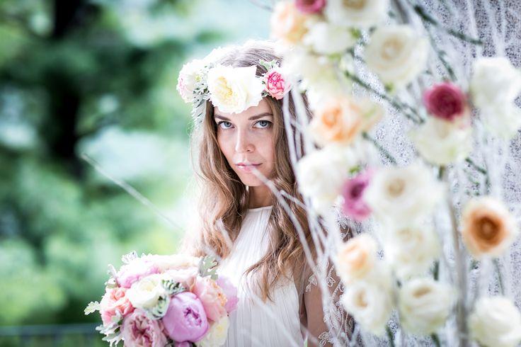 Flower crown for bride / Венок из цветов для невесты