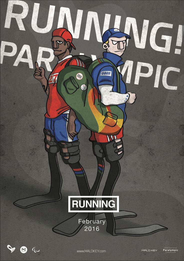 패럴림픽 홍보포스터(Paralympic poster) _ Running paralympic