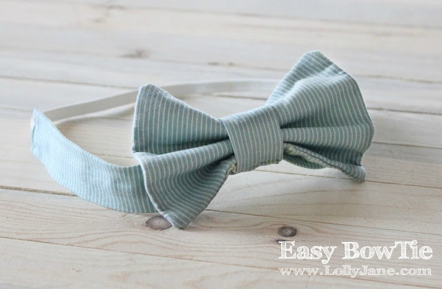easy DIY bow tie via lollyjane.com #stockingstuffer