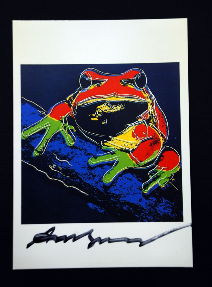 Andy Warhol  Frog Signed Bookplate