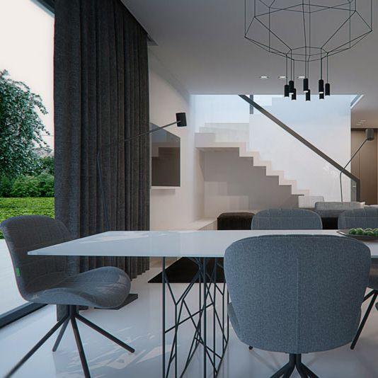 Dining room design in Nowe Chechło, POLAND - archi group. Jadalnia w domu jednorodzinnym w Nowym Chechle.