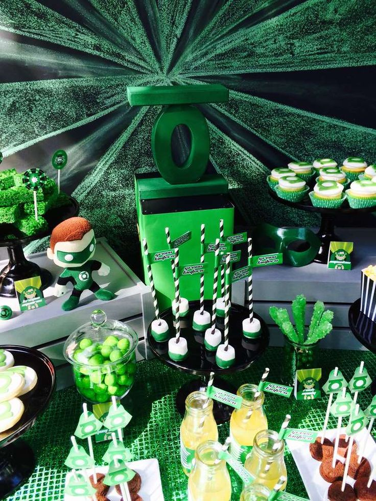 Green Lantern Birthday Party Ideas | Photo 10 of 29