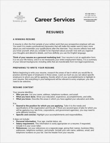 objectives to put on resume