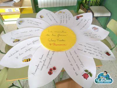 """EXPERIENCIAS EN EL AULA   """"La maestra de las flores"""" nuestro homenaje a Gloria Fuertes en el Centenario de su nacimiento (Día del Libro) ~ La Eduteca"""