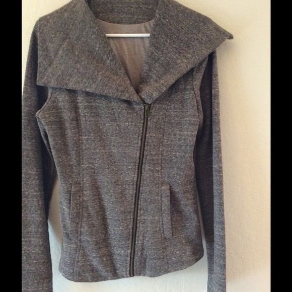Asymmetric Grey Jacket from Stitch Fix Never worn cute casual jacket, could be worn as a sweat shirt as well. Purchased from Stitch Fix. NWOT Stitch Fix Jackets & Coats
