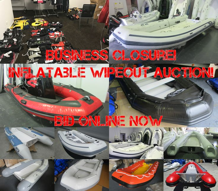 Inflatable Boat & Marine Business Closure!!! Over 150 Brand New Quality Inflatable Boats ranging from small tenders to luxury vessels.  Includes: Water Sports equipment, life jackets, apparel, chandlery, trailers & much more… BID NOW! https://www.lloydsonline.com.au/AuctionLots.aspx?aid=7167&pgn=1&pgs=100&smode=0&gv=True&utm_content=buffer06dc9&utm_medium=social&utm_source=pinterest.com&utm_campaign=buffer
