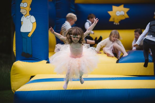Children's bouncy castle for wedding entertainment // The Natural Wedding Company