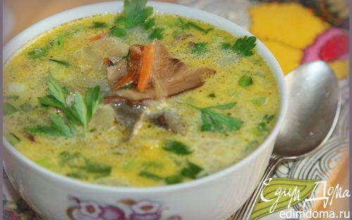 Суп из сушеных грибов | Кулинарные рецепты от «Едим дома!»  Состав. картофель 7 шт. грибы белые сухие 30 г морковь 2 шт. лук репчатый 3 шт. зелень по вкусу сливки 20% 100 мл