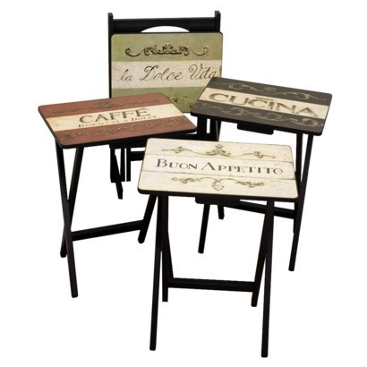 Cucina TV Tray Set With Stand