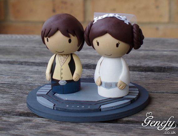 Best 25 star wars wedding cake ideas on pinterest superhero cute star wars wedding cake topper princess by genefyplayground 7800 junglespirit Choice Image