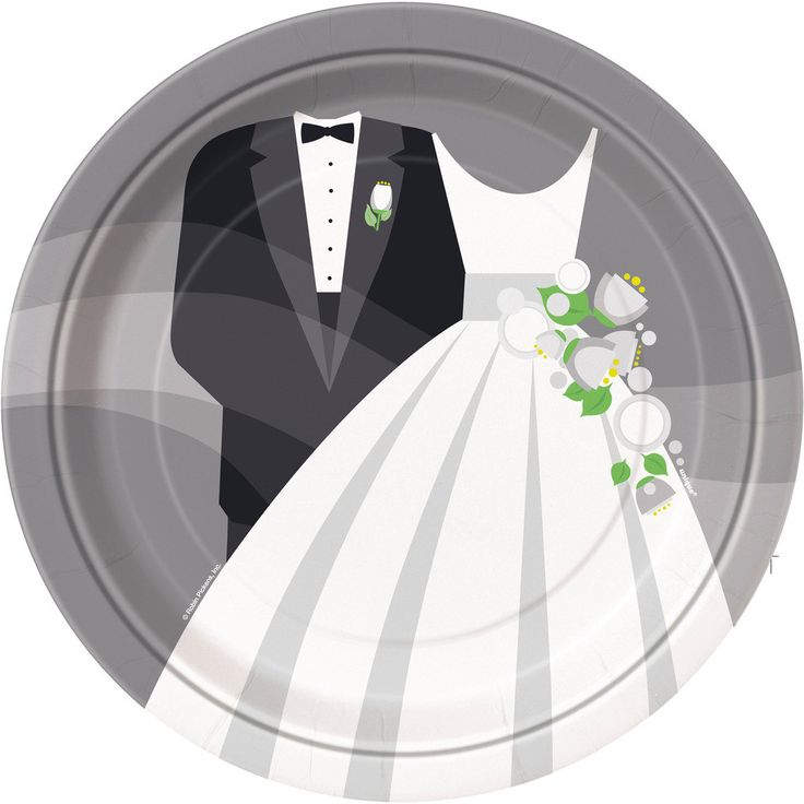Silver Wedding Dinner Plates