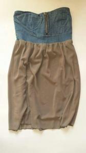 Licytuj na allegro.pl już od 15,00 zł - Zwiewna sukienka z jeansowym gorsetem rozmiar XS (5640147887). Allegro.pl - Radość zakupów i 100% bezpieczeństwa dla każdej transakcji!