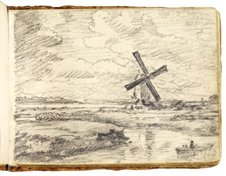 Drawing from John Constable's sketchbook (1814)