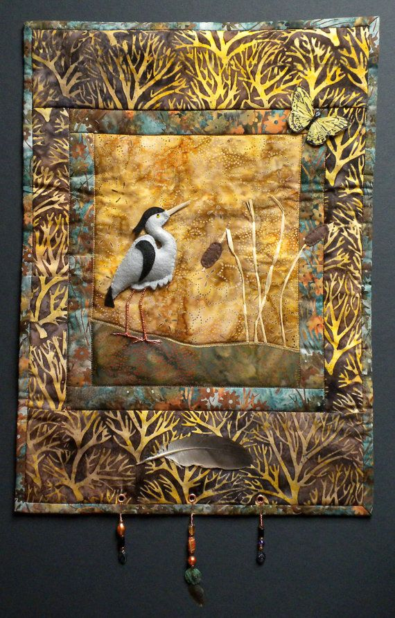 blue heron art wall hanging quilt pattern inspiring on wall hangings id=21830
