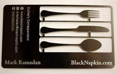 Card with cutlery