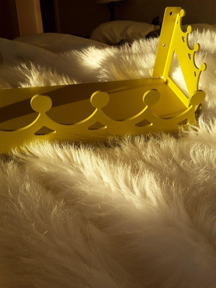 yellow tiara shelf
