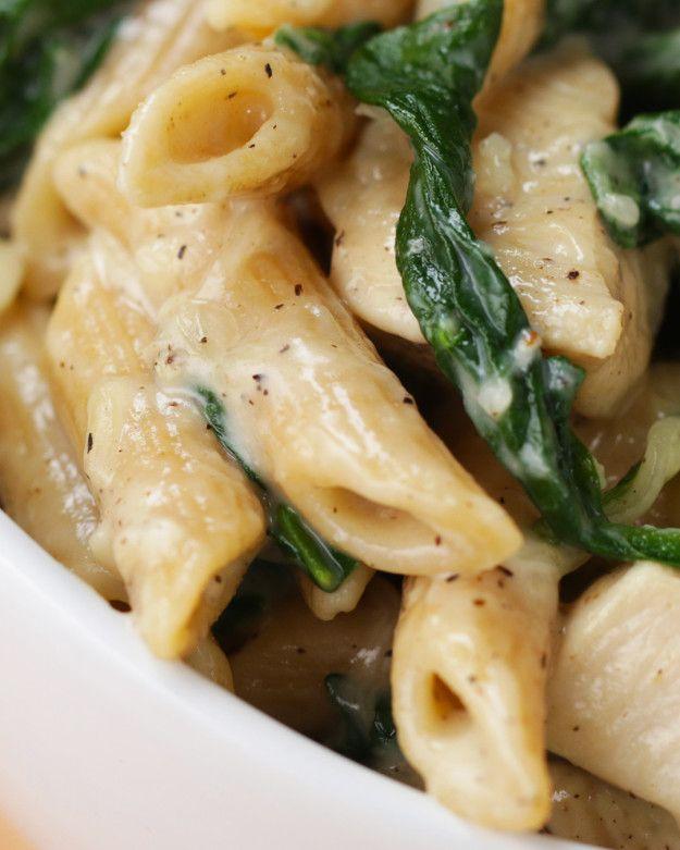 Healthier Chicken Alfredo Pasta | Healthier Chicken Alfredo Pasta