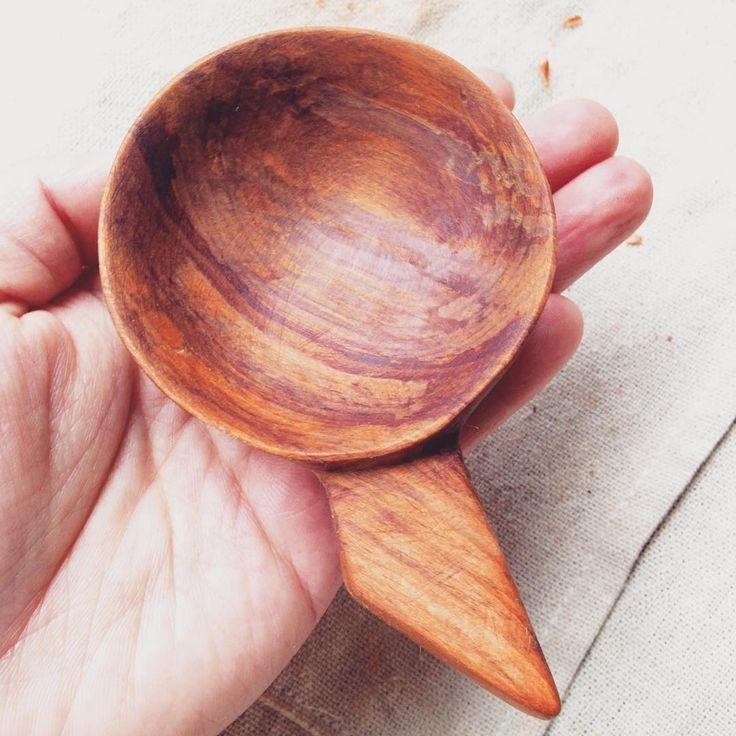 Keeping this one rustic, aka rough as guts. #woodworking #handmadespoons #handmade #rimu #spooncarving