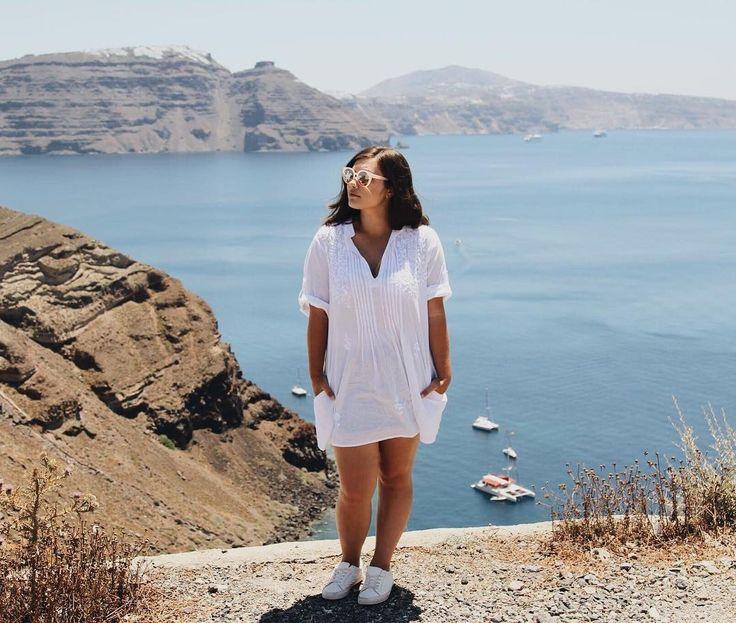 "LEILANI KRIENKE on Instagram: ""Flashback to warmer days in the Mediterranean sun ☀️🇬🇷 . . . . #Greece #summer #mediterranean #santorini #oia #flashback #honeymoon #sun…"""