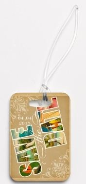 Save the Date Luggage Tags // For a Destination Wedding!