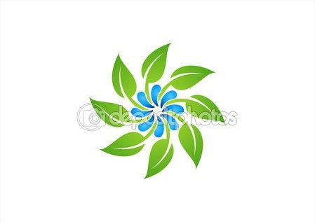Circle dew and leaf logo,water drops and nature plant symbol,spring icon - http://depositphotos.com?ref=3904401