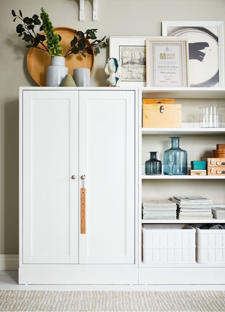 Ikea Havsta White Cabinet With Plinth